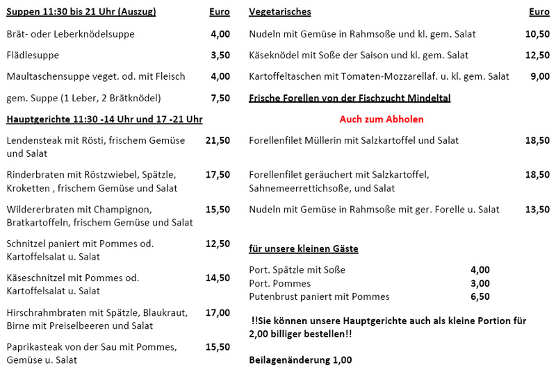 Gasthof Pension Gfallmuhle In Ebersbach Im Allgau Willkommen
